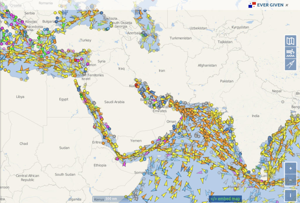 全世界の船舶の位置を追跡する!(VesselFinder)