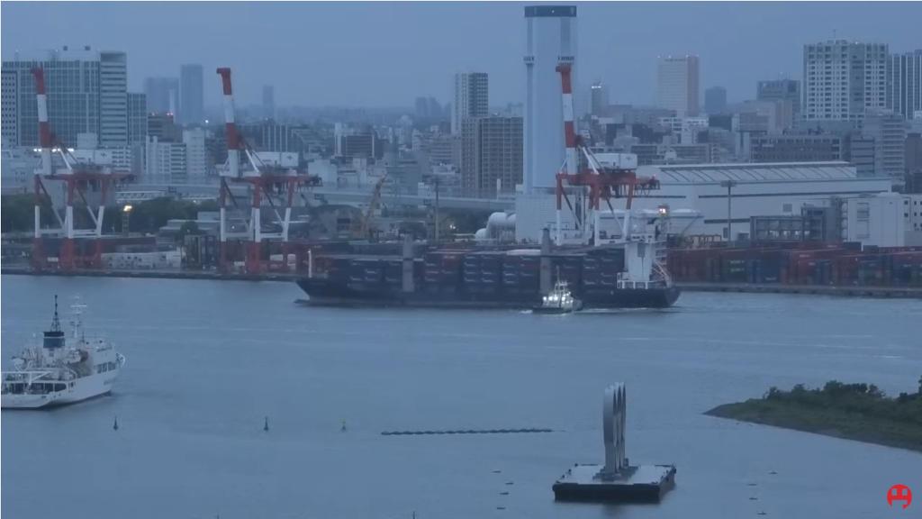 品川埠頭の様子をライブカメラで眺める!
